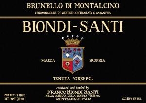 Biondi Santi etichetta Brunello di Montalcino 2007 Annata
