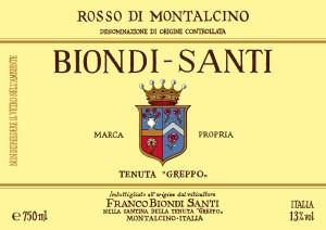 Etichetta Rosso Montalcino