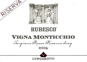 Rubesco 2007 - Etichetta