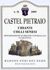 Label Castel Pietraio Chianti Colli Senesi