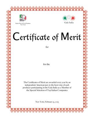 Certificates of Merit Final